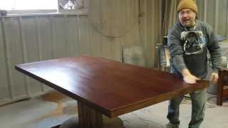 Refinishing A Mahogany  Dining Table  At  Timessless Arts Refinishing 616 453 8309