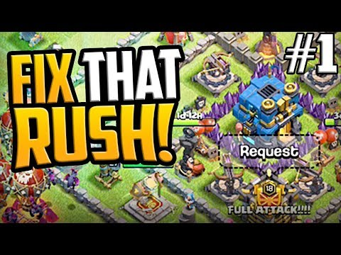 GEM, FIX, MAX That HUGE RUSH! Clash Of Clans Town Hall 12 Episode 1
