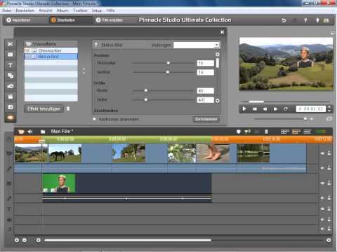Chromakey und Bild in Bild Effekt in Pinnacle Studio 14 und 15