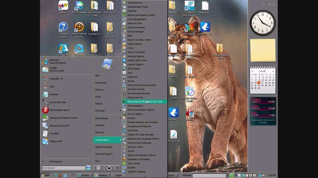 how to change to windows 98 theme