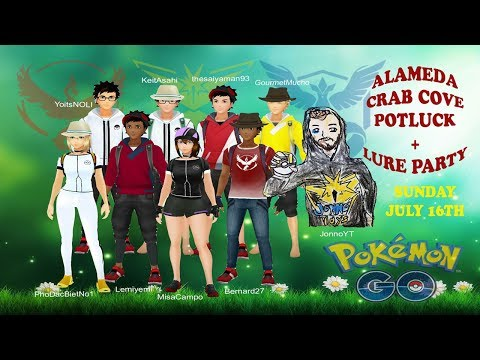 ALAMEDA CRAB COVE POTLUCK & LURE PARTY! Wild Unown! Pokefriends and Pokemon GO Community Meetup!