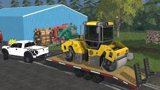 Farming Simulator 15 Lawn Care Construction Ep #10 Paving The Driveway