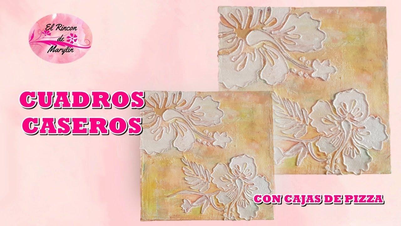 Como hacer cuadros decorativos con carton cajas de pizza - Hacer cuadros decorativos ...