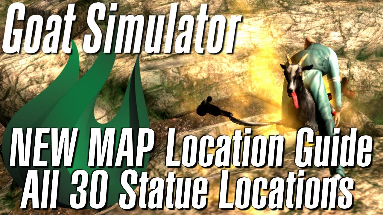 Goat Simulator NEW MAP - All 30 Golden Goat Statue Locations