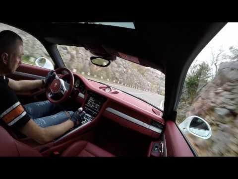 Porsche 911 4 GTS driving on Croatia coast