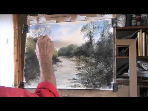 Revision to 'Using sponges with acrylic ' River Frome, Dorset