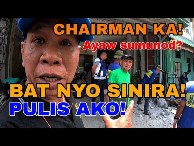 Naku bat nyo naman SINIRA, Pulis ako eh, Nagkasagutan sa Manila Clearing Update
