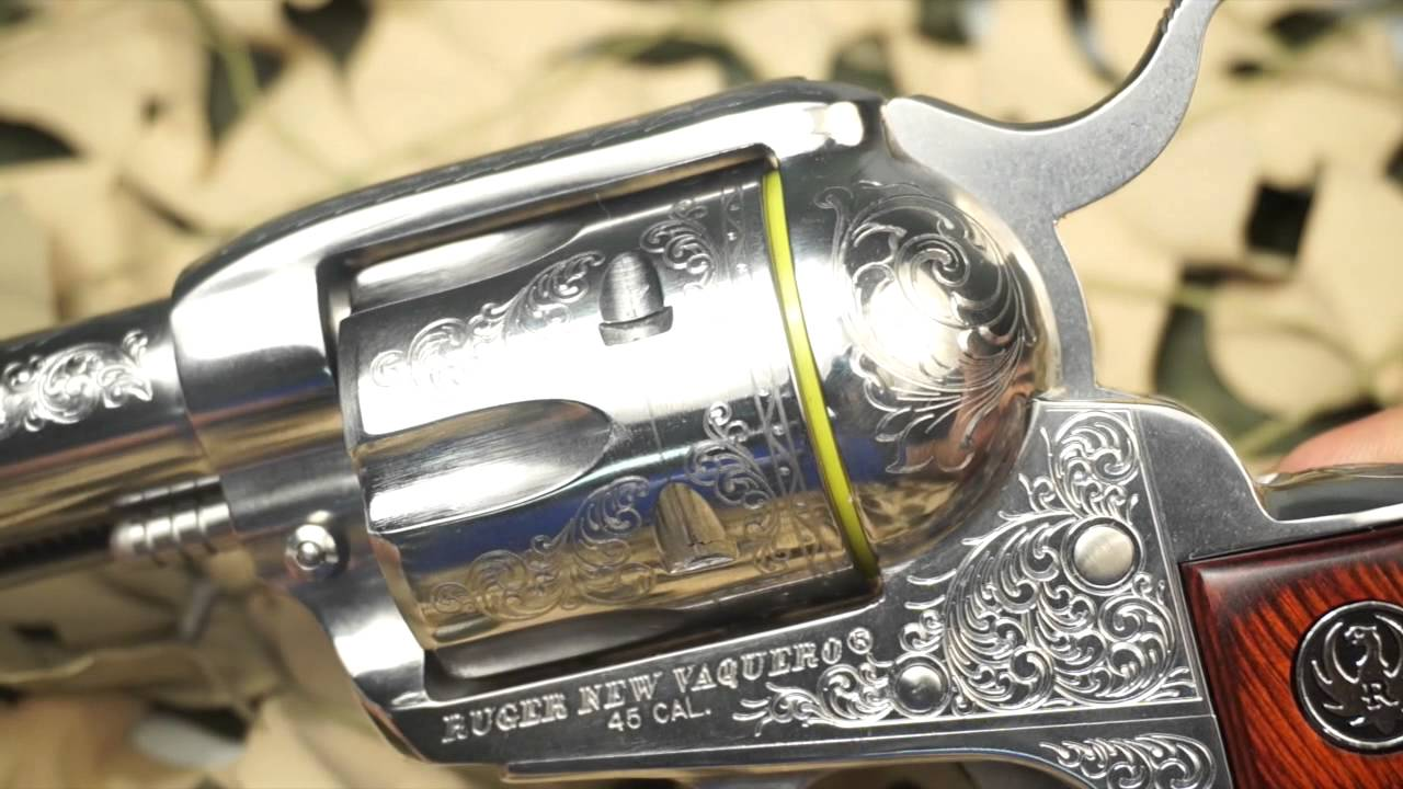 Ruger New Vaquero Engraved 45LC Cowboy Action Stainless Revolver Overview -  New World Ordnance