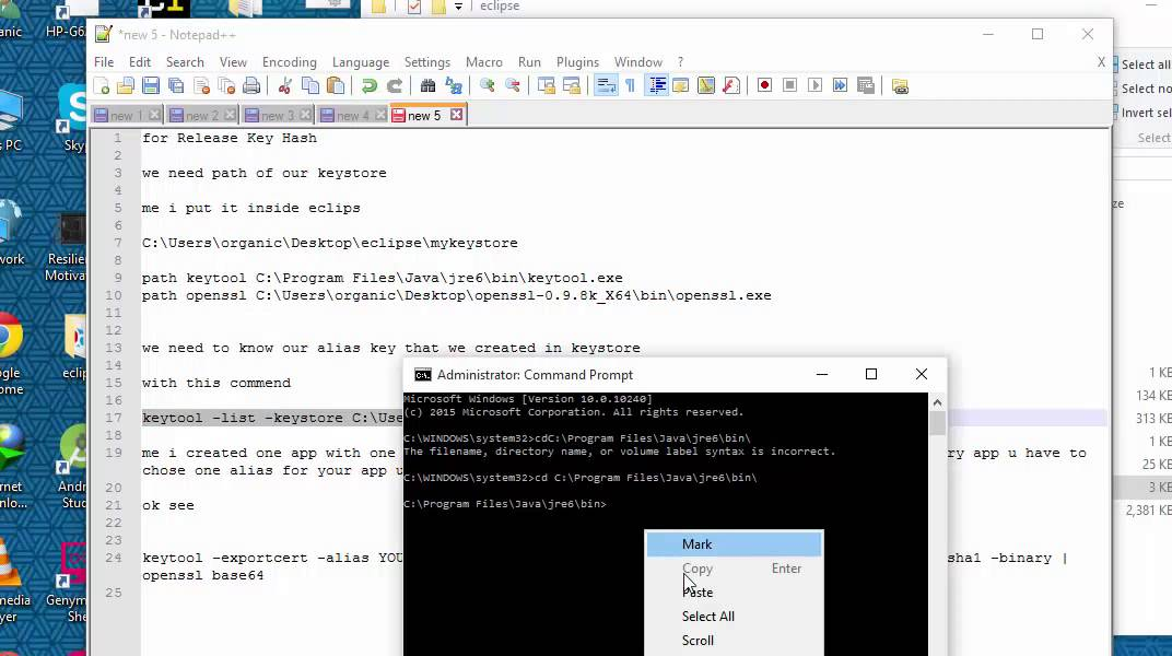 How to get Development Key Hashes and Release Key Hash for android app  Facebook