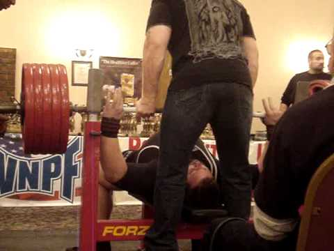 Big Eric 500 lb bench attempt WNPF Sarge Mc Cray