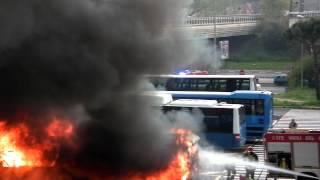 Roma: Incendio Ponte Mammolo