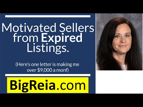 Motivated sellers from expired listings, how one letter is making me over 9k/month - the intro video