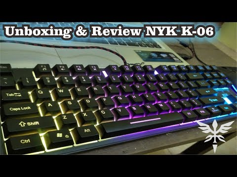 Unboxing & Review NYK K-06 TKL ! Keyboard Gaming Murah
