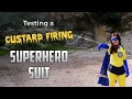 Testing our Custard Firing Superhero Suit | Kids Invent Stuff