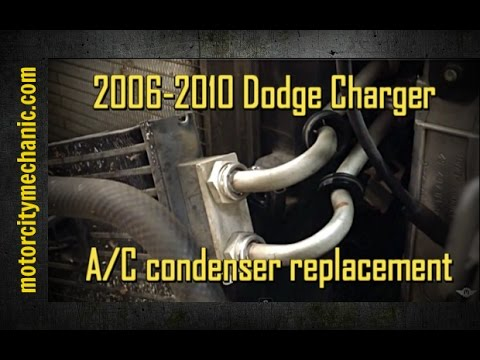 dodge charger ac condenser replacement youtube
