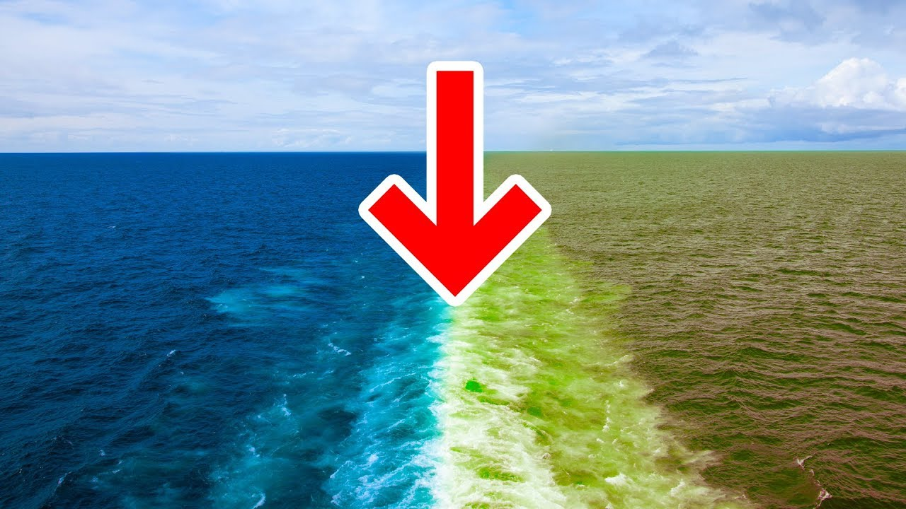 Zwei Ozeane Vermischen Sich Nicht