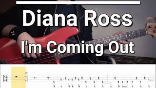 Diana Ross - I'm Coming Out (Bass Cover) TABS