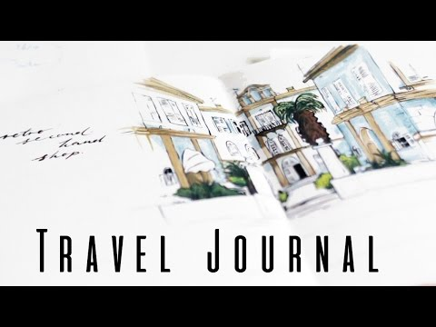 Painting a Page in my Travel Journal · Time-Lapse and Talk-Through · SemiSkimmedMin