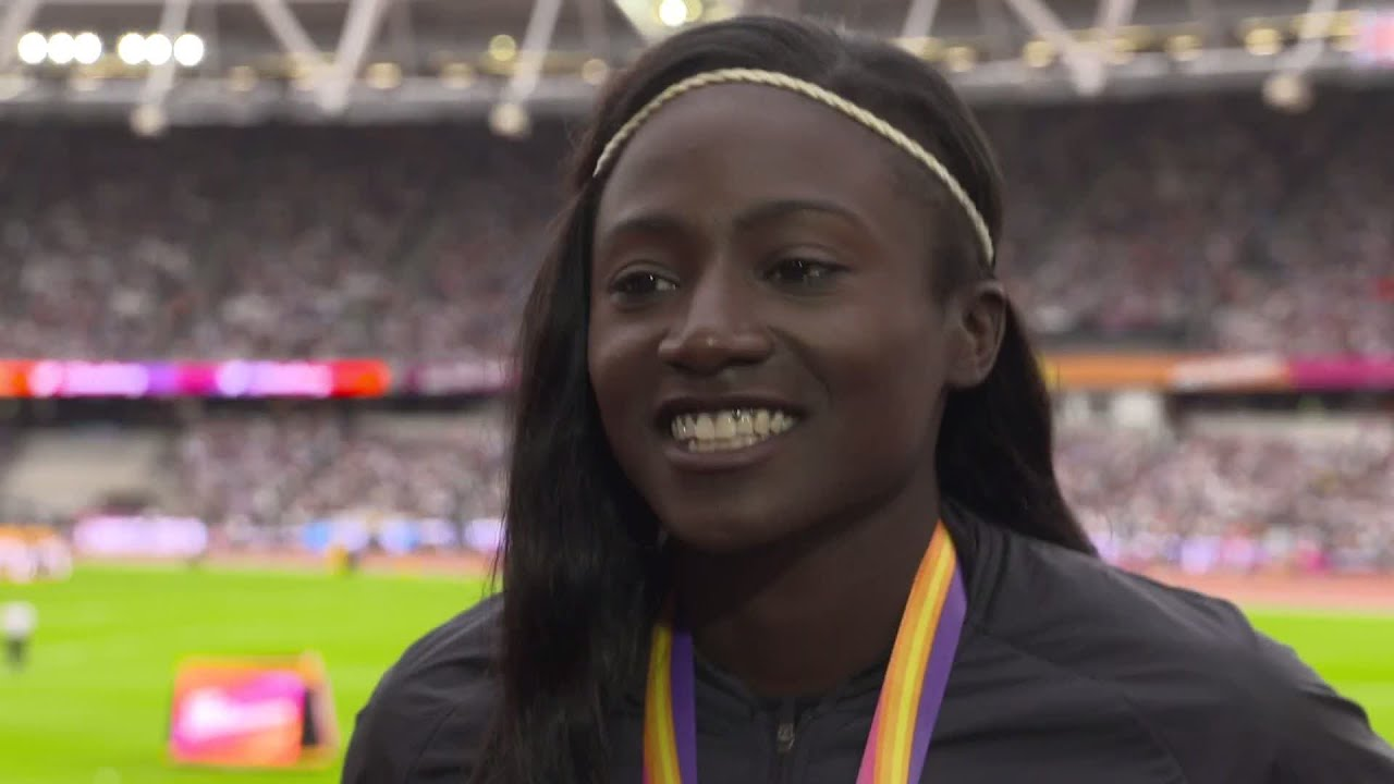 WCH 2017 London - Tori Bowie USA 100 Metres Gold - YouTube