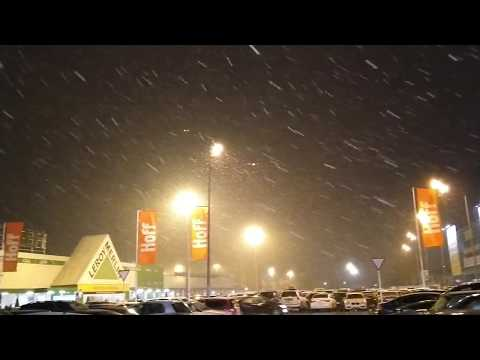 Снег в Краснодаре 15 декабря 2018 ТРЦ СБС Мегамолл стадион Краснодар
