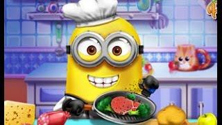 Миньоны: готовим на кухне, кормим миньона / Minions cook in the kitchen, minions real cooking