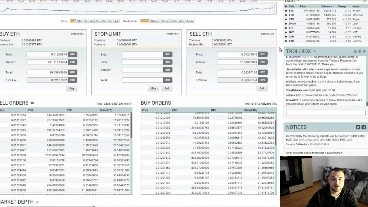 Программа для торговли на бирже poloniex заказать биткоин карту