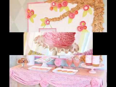 Diy cheap baby shower decorations ideas for girls youtube for Baby shower decoration store