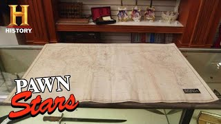 Pawn Stars: ASTRONOMICAL PRICE for Explorer's Map (Season 16) | History