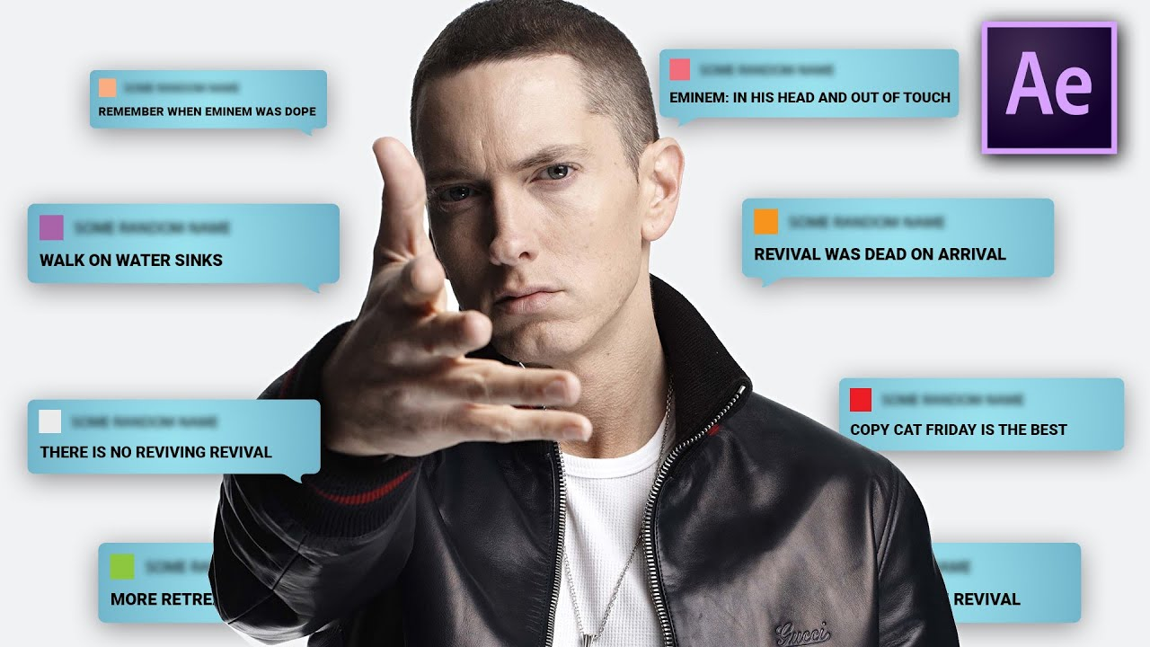 FLOATING MESSAGES in After Effects (Eminem - FALL)