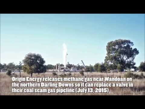 HUGE CSG Gas Release Near Wandoan Queensland Australia - Origin Energy