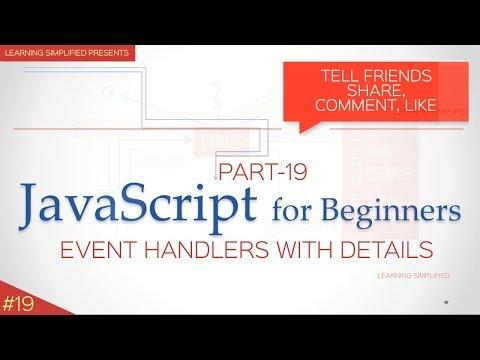Event handling in JavaScript - Tutorial for Beginners #19