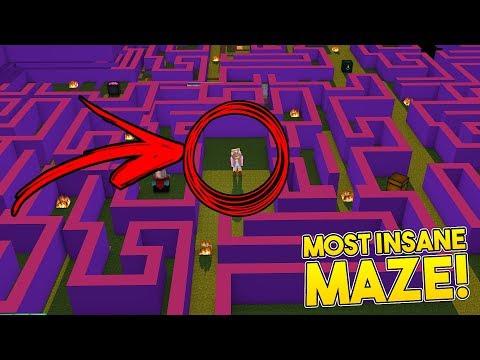 MOST INSANE MAZE CHALLENGE EVER!  | Minecraft Little Kelly Plays