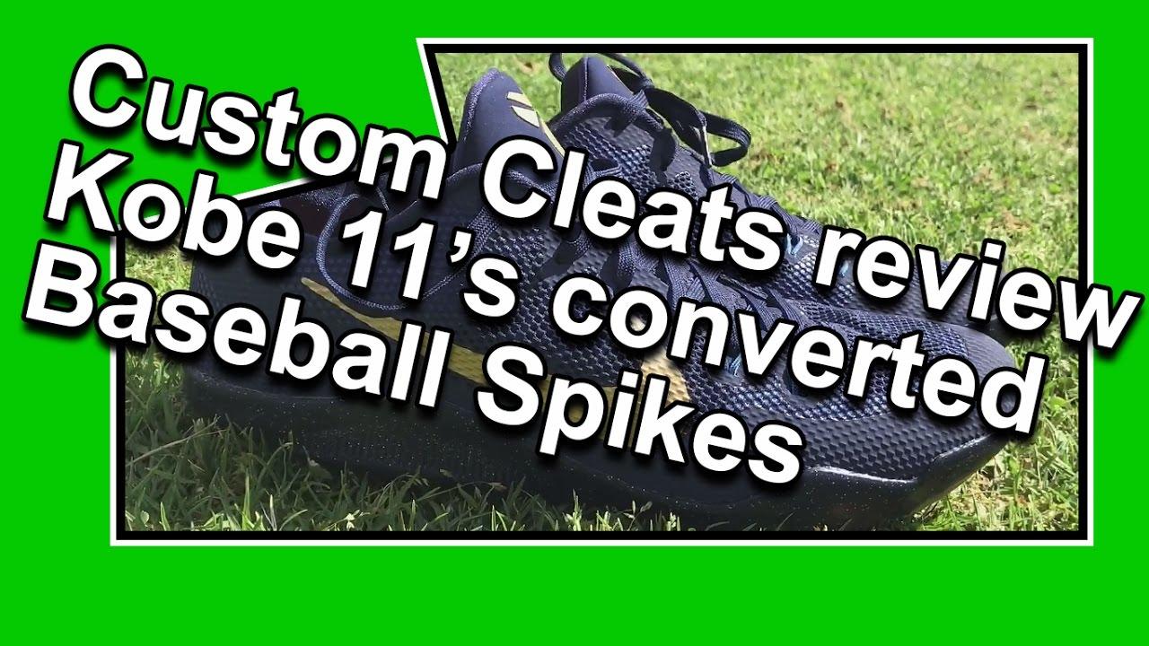 Kobe 11\u0027s Review \u2014 Converted To Baseball Spikes by Custom Cleats Inc.
