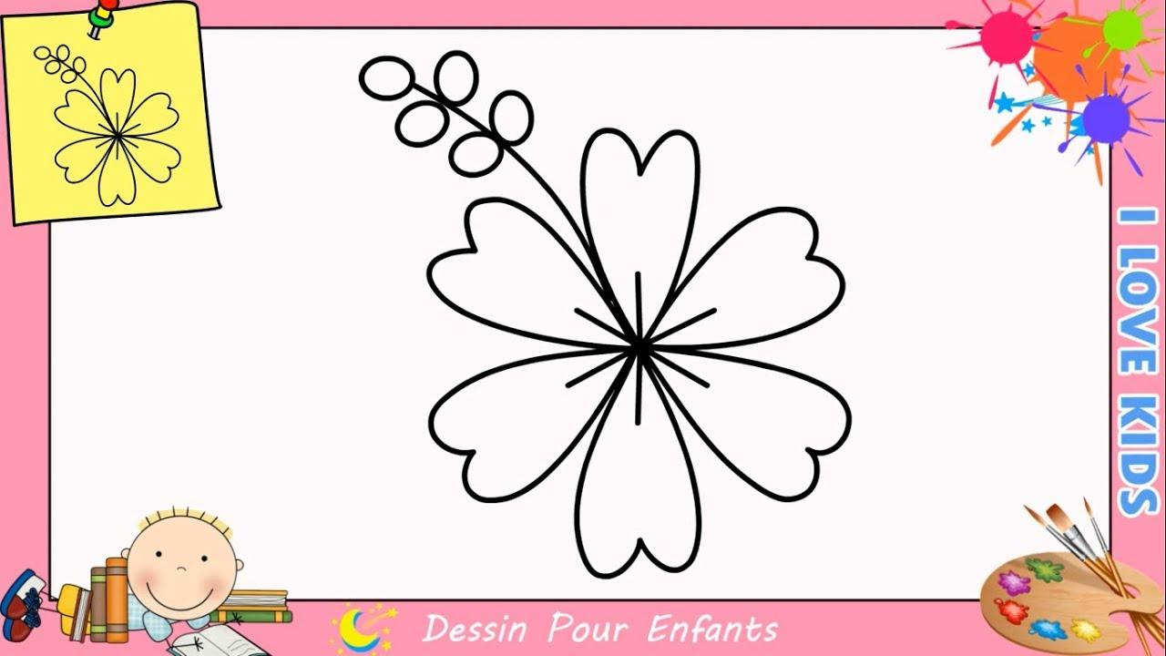 Comment Dessiner Une Fleur Facilement Etape Par Etape Pour Enfants