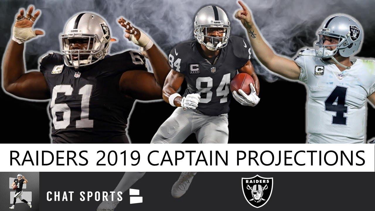 Raiders 2019 Team Captains Projecting Oakland S 6 Captains Led By Derek Carr Rodney Hudson Youtube