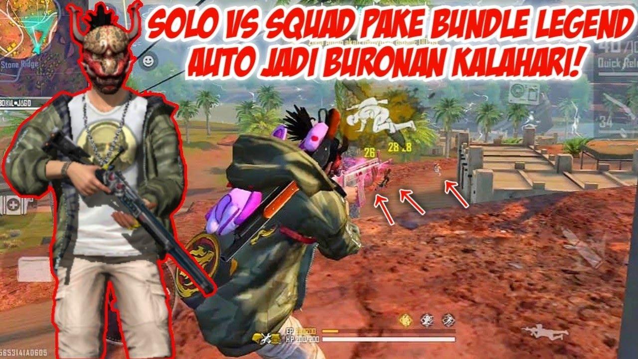 PAKE BUNDLE BAPAK JUMPSHOOT INDONESIA AUTO JADI BURONAN KALAHARI!!! FREEFIRE BATTLEGROUNDS