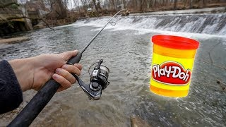 Trout Fishing with Play Doh!! (Does it work?)