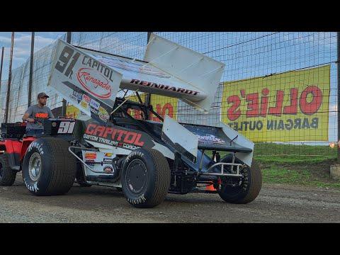 Kyle Reinhardt On Board 410 Sprint Car at Grandview Speedway August 22, 2019!