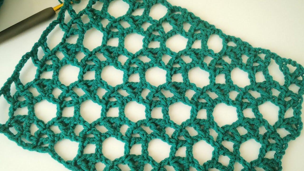 Olimpiyat Modeli Şal/Bluz/Dantel Örneği Yapımı /Easy crochet pattern for Shawls image