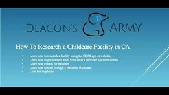CA Childcare Facility Search