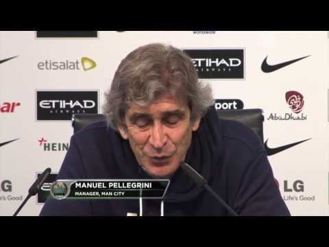 "Manuel Pellegrini: ""Sergio Agüero wichtig für das Team"" | Machester City - Blackburn Rovers 5:0"