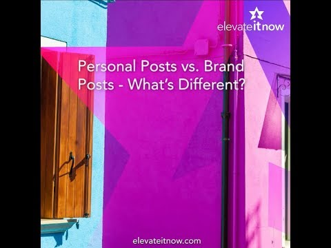Social Media Tips - Personal Posting vs. Business