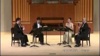 "W.A.Mozart "" Quartet KV.172""  1st movt.  Allegro Spiritoso  /   Clarinet Quartet Ensemble Sonorité"