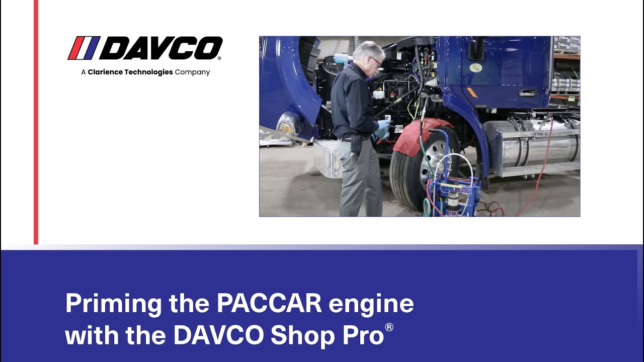 using the davco shop pro to prime paccar engines [ 1280 x 720 Pixel ]