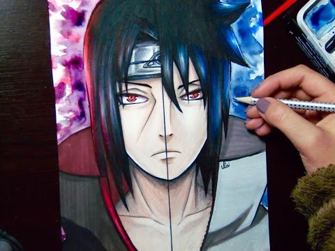 Speed Drawing Uchiha Itachi and Uchiha Sasuke Naruto YouTube