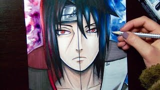 Uchiha Itachi and Uchiha Sasuke -Drawing/Çizimi(Naruto)