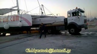 Hauling out catamaran 80 ft-boat lift for catamaran-extension for boat lift