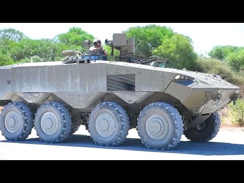 Israel Ministry Of Defence - Eitan 8X8 Armoured Wheeled Vehicle With Trophy APS Testing [1080p]