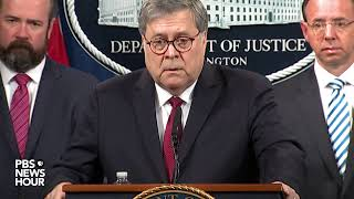 WATCH: AG Barr holds news conference on Mueller report ahead of release