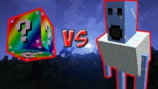LUCKY BLOCK ARCO-ÍRIS VS. MONSTRO DE GELO! (LUCKY BLOCK CHALLENGE MINECRAFT)